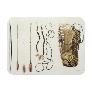 Weapons, tools and jewellery of Puri and Botocudos Rectangular Photo Magnet