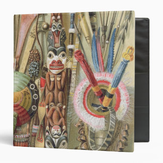 Weaponsutensils and ornaments of AmericanIndians 3 Ring Binder