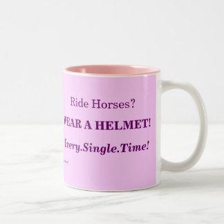 Wear A Helmet Every Time Two-Tone Coffee Mug