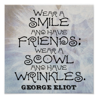 Wear a SMILE Poster