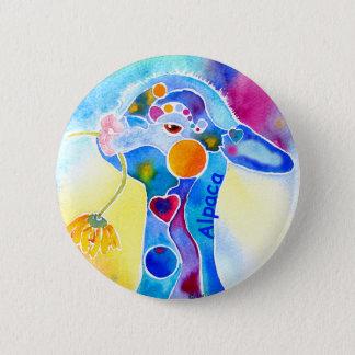 Wear Alpaca for the Warm Fuzzies 2 Inch Round Button