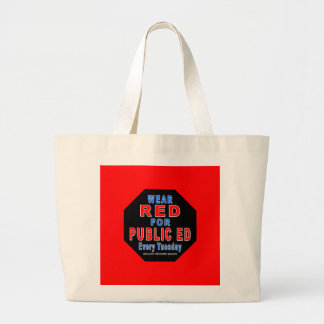 Wear Red for Public Ed Large Tote Bag
