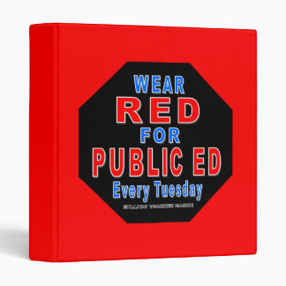 Wear Red for Public Ed (red) Binders