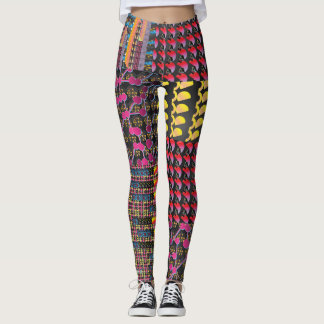 Wear these brightly coloured leggings