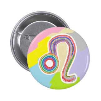 Wear your birth symbol : LEO Zodiac Astrology 2 Inch Round Button