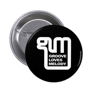Wear your support for Groove Loves Melody! 2 Inch Round Button