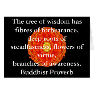 Wearable Buddhist Wisdom - The tree of wisdom Card