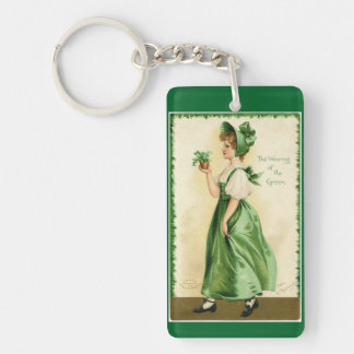 Wearing Of The Green Single-Sided Rectangular Acrylic Keychain