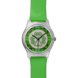 Wearing of the Green St. Patrick's Day Plaid Watch