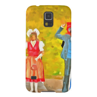 Wearing Swiss traditional costumes Galaxy S5 Cases