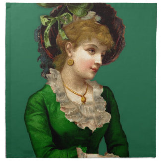 Wearing the Green on St Patrick's Day Napkin