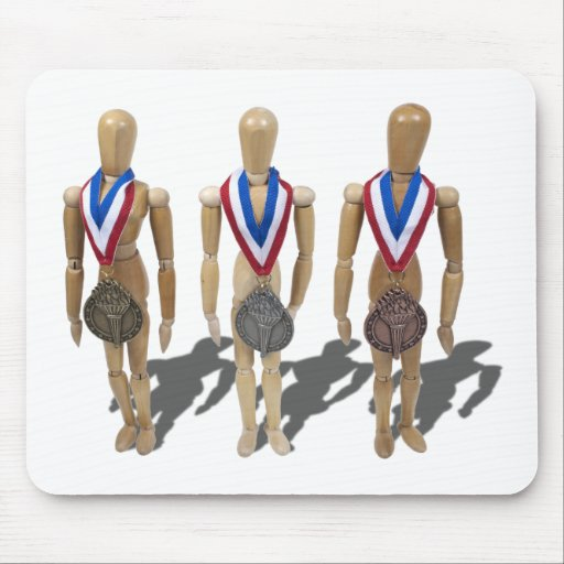 WearingGoldSilverBronzeMedals122410 Mouse Pad