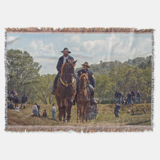Weary Union Soldiers Throw Blanket