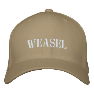WEASEL EMBROIDERED HAT