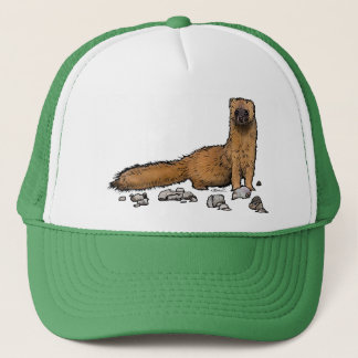 Weasel on a hat! trucker hat