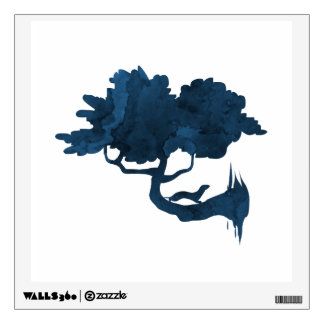 Weasel on a tree wall sticker