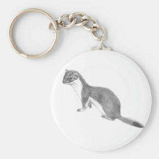Weasel round keychain