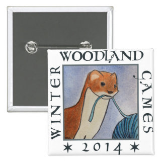 weasel winter woodland games 2014 2 inch square button