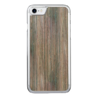 Weather-beaten Bamboo Wood Grain Look Carved iPhone 8/7 Case