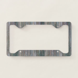 Weather-beaten Bamboo Wood Grain Look Licence Plate Frame