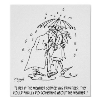 Weather Cartoon 1275 Poster