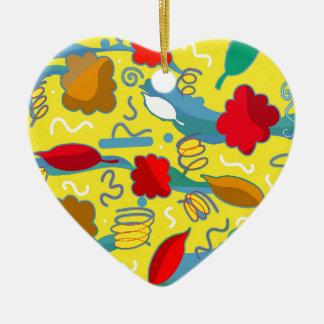 Weather Ceramic Heart Ornament
