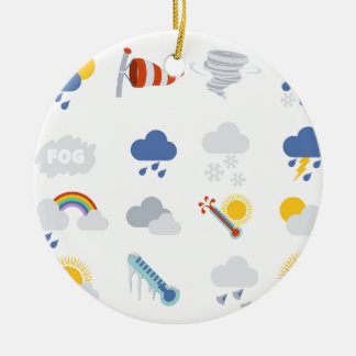 Weather Icons Ceramic Ornament