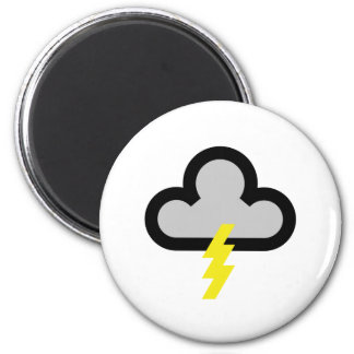 Weather Lightning Flash Symbol Magnet