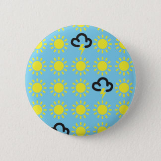 Weather pattern: Retro weather forecast symbols 2 Inch Round Button