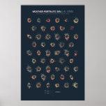 Weather Portraits 2014: U.S. Cities Poster
