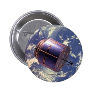 Weather Satellite 2 Inch Round Button