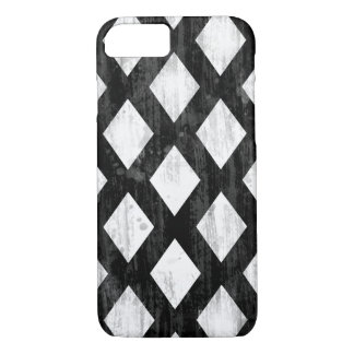 Weather Seamless Pattern, Diamonds Black and White iPhone 7 Case
