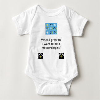 Weather symbols babygrow baby bodysuit