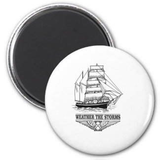 weather the storm glory 2 inch round magnet