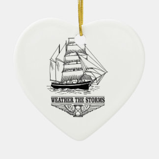weather the storm glory ceramic heart ornament