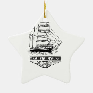 weather the storm glory ceramic star ornament