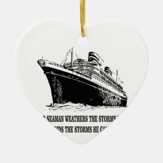 weather the storms wise one ceramic ornament