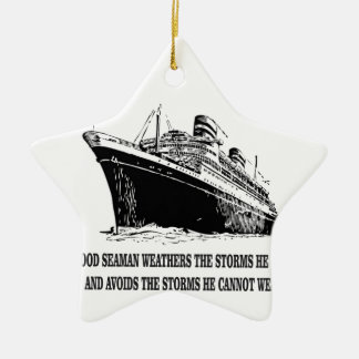 weather the storms wise one ceramic star ornament
