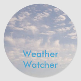 Weather Watcher Round Sticker