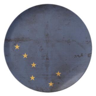 Weathered Alaska Flag Plate