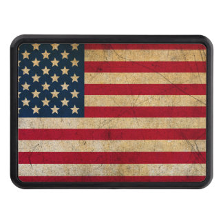 Weathered American Flag Trailer Hitch Cover