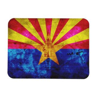 Weathered Arizona Flag Rectangular Photo Magnet
