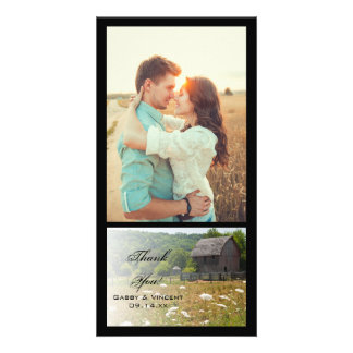 Weathered Barn Country Thank You Photo Card
