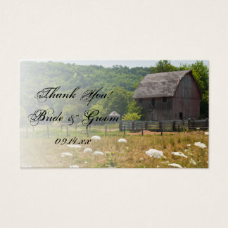Weathered Barn Country Wedding Favor Tags