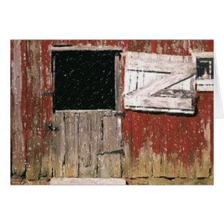 Weathered Barn Door Blank Greeting Card