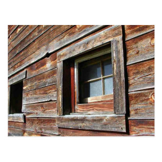 Weathered Barn Window Postcard
