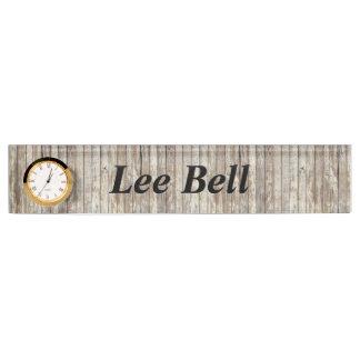 Weathered Barn Wood Name Plate