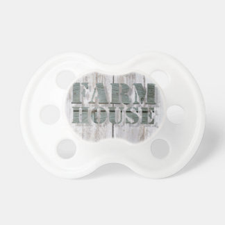 weathered barn wood western country farmhouse pacifier