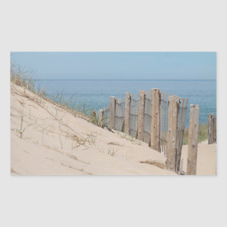 Weathered beach fence and dunes sticker