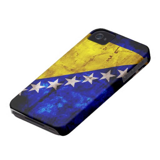 Weathered Bosnia Flag iPhone 4 Cases